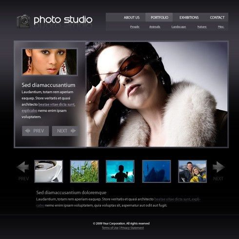 Real Feel HTML Template - 5496 - Art & Photography - Website ...
