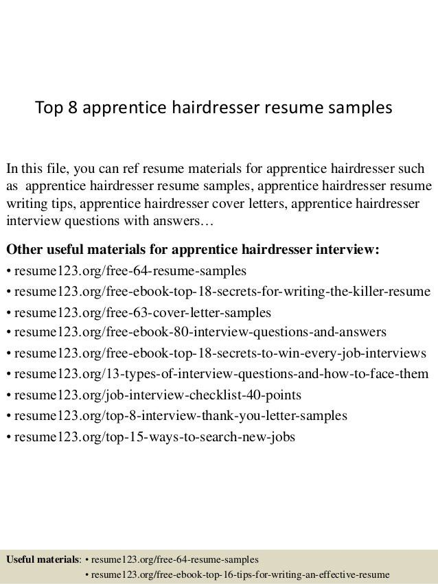 sample apprenticeship cover letter