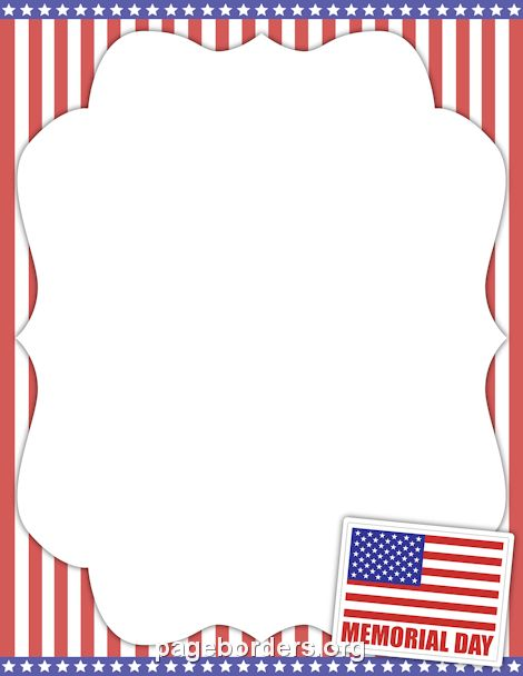 Printable Memorial Day border. Use the border in Microsoft Word or ...