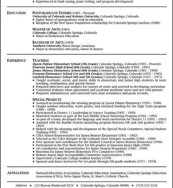 Teaching Resumes - Resume CV Cover Letter