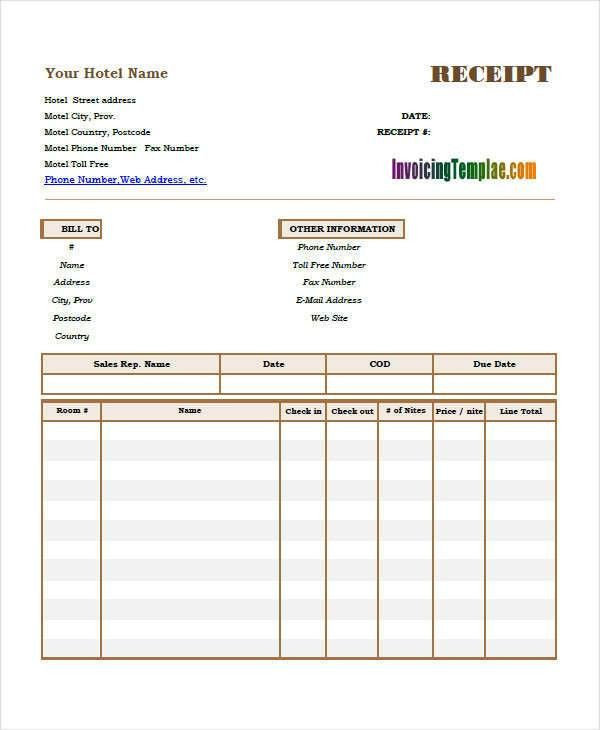 10 Simple Receipt Template – Free Sample, Example, Format Download