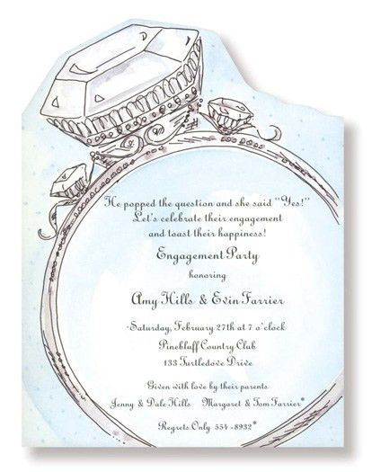 Diamond Ring Engagement Party Invitations Diamond wedding ...