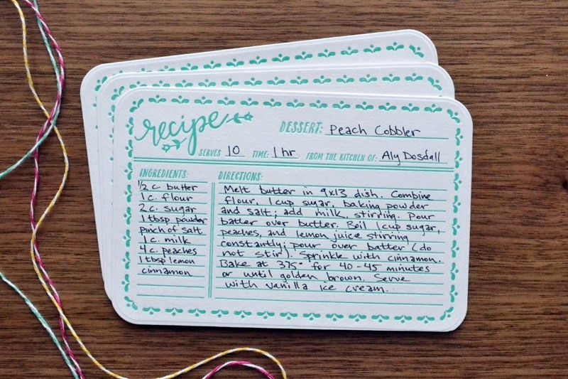 Letterpress Recipe Card Gift Set | We R Memory Keepers Blog