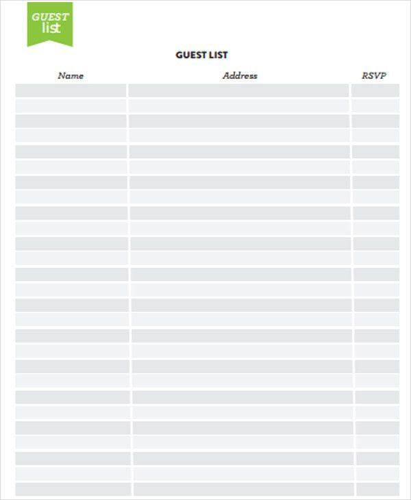 Address List Templates -7+ Free Word, PDF Format Download | Free ...