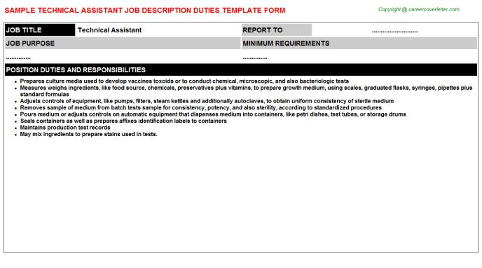 Library Technical Assistant Cover Letter