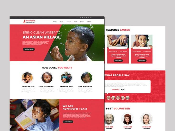 Free Non Profit Website Template - Free Download | Freebiesjedi