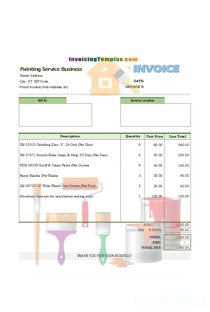 Bill Format for Catering and Wedding Service
