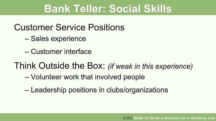 image titled write a resume for a banking job step 8. sample ...