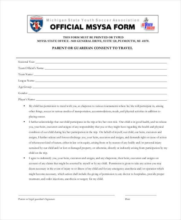 Basic Consent Forms