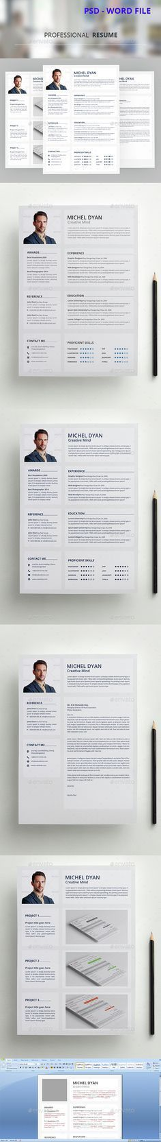 50 Best Minimal Resume Templates - 3 | Resume Design | Pinterest ...