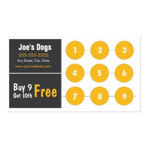 Custom Card Template » Loyalty Punch Card Template - Free Card ...