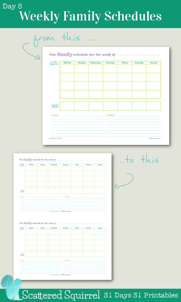 Top 25+ best Family schedule ideas on Pinterest | Weekly schedule ...