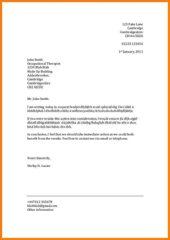professional letter format with letterhead