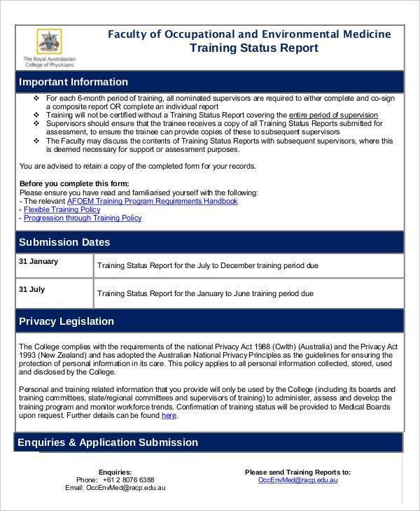 11+ Training Report Templates - Word, PDF | Free & Premium Templates