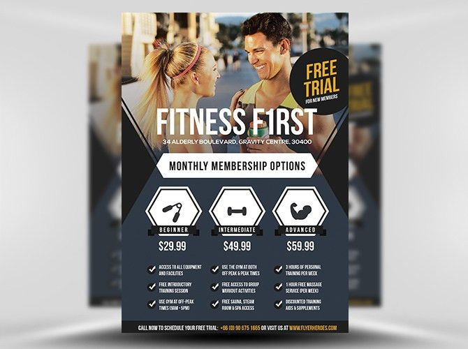 Fitness First Flyer Template - FlyerHeroes
