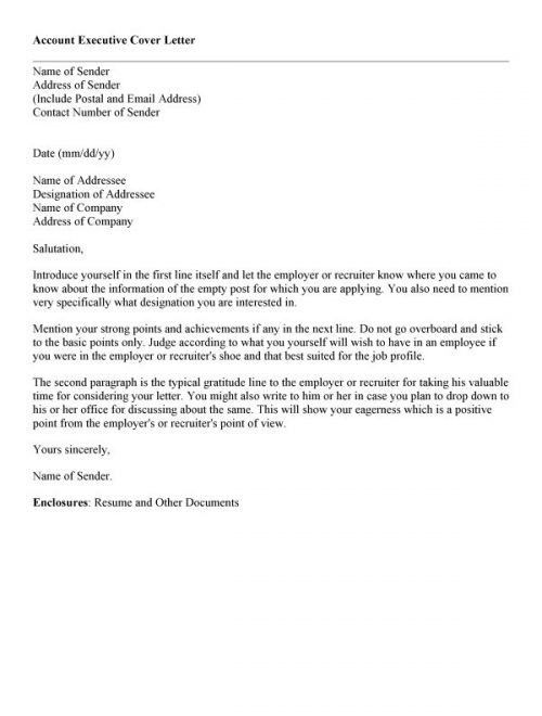 Best Cover Letter For Sales Executive Cover Letter Sales Executive ...