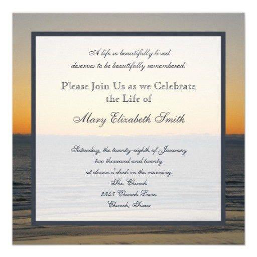 Celebration of Life Invitation | Celebrations and Funeral ideas