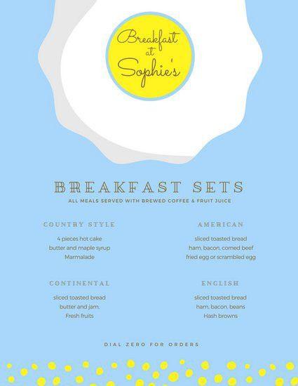 Breakfast Menu Templates - Canva