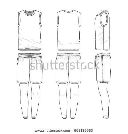 Blank Templates Womens Clothing Set Front Stock Vector 409107514 ...