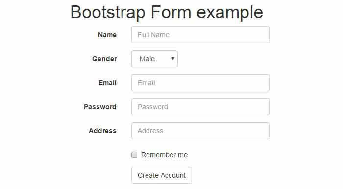 6 Bootstrap forms: basic, horizontal, inline, validation etc ...