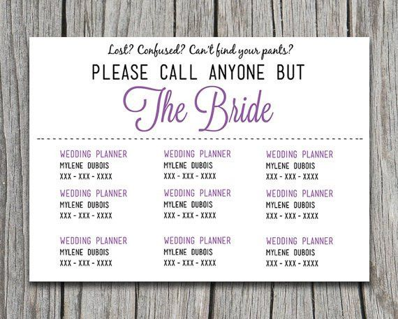 Please Call Anyone But the Bride Lavender Purple Microsoft Word ...