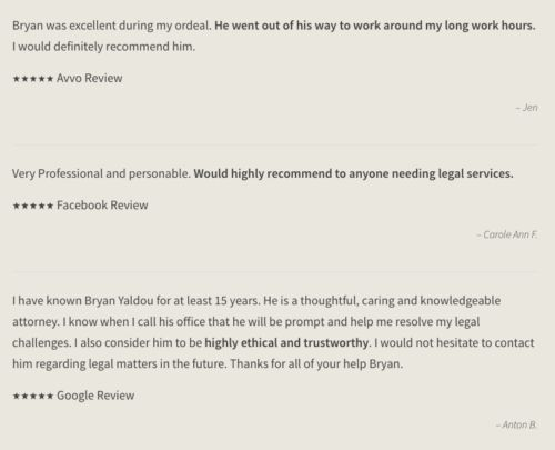 Client Testimonials on Attorney Websites: Are They Effective ...