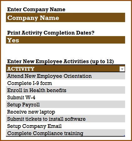 New Employee Checklist - Free Excel Template | INDZARA