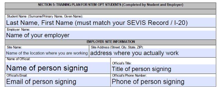 STEM OPT Training Plan (Form I-983) - Global Engagement - Santa ...