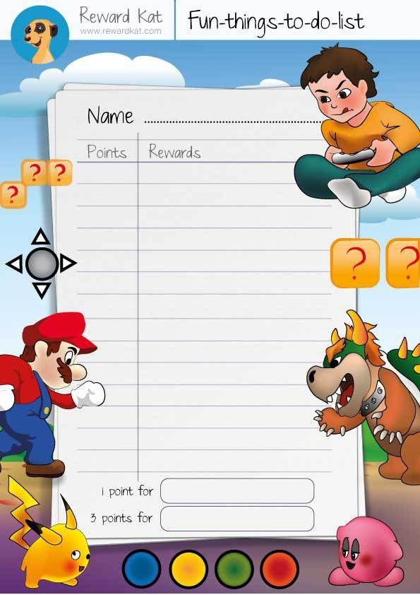 8 Best Images of Lists For Toddlers Reward Chart - Behavior Reward ...