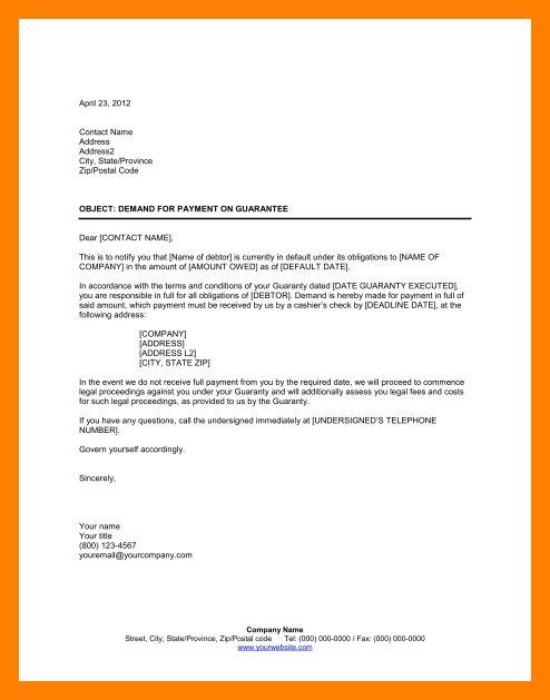 10+ sample demand letter | resumed job