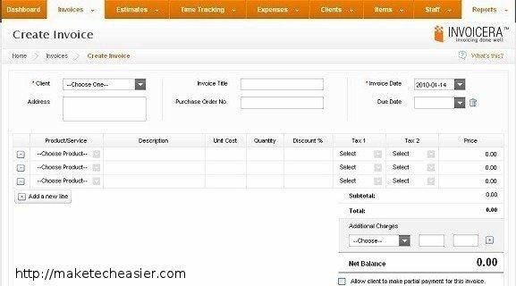 create invoice online