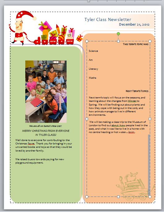 word 2010 newsletter templates - Template