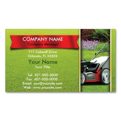202 best Lawn Care Business Cards images on Pinterest   Business ...