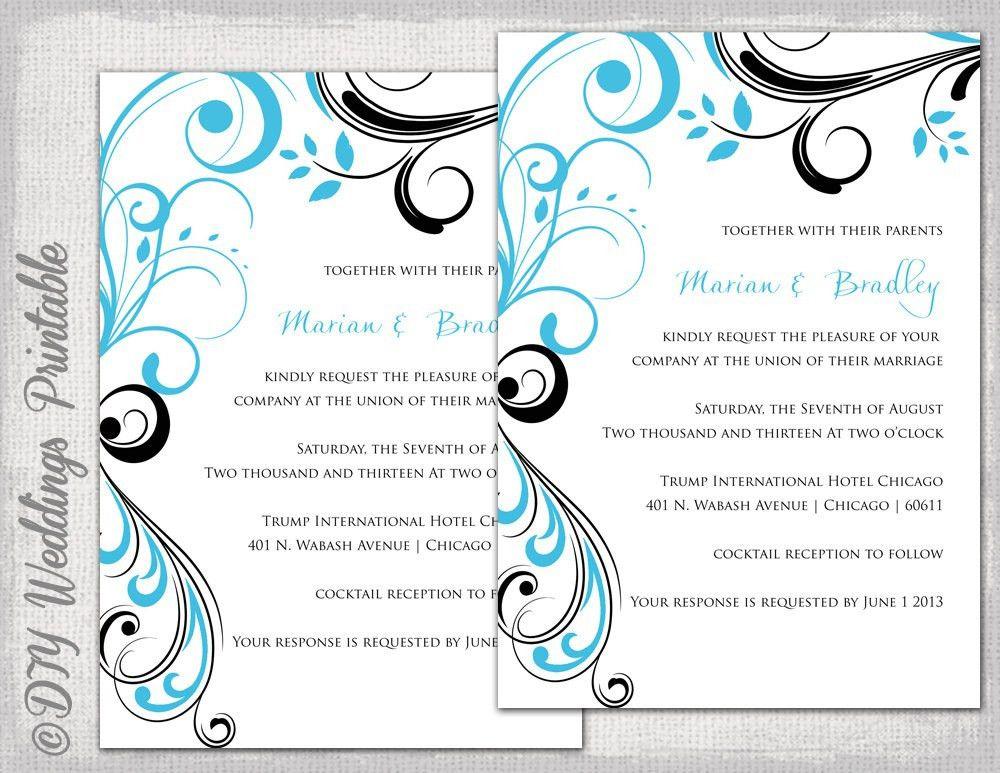 Free Printable Wedding Invitation Templates - Wedding Definition Ideas