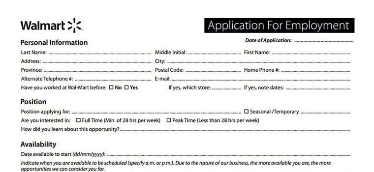 walmart application employment form job interview tips - Walmart Overnight Jobs