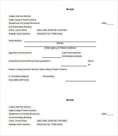 Printable Receipt Template - 16+ Free Word, PDF Documents Download ...