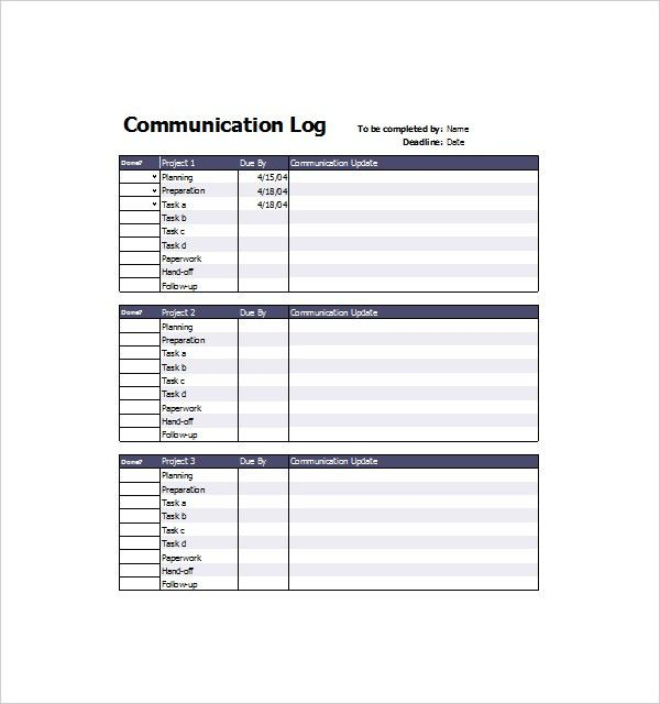Communication Log Template – 8+ Free Word, PDF Documents Download ...