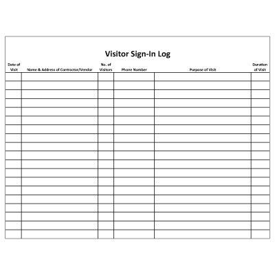 Awesome Sample Visitor Sign In Sheet Ideas - Best Resume Examples ...