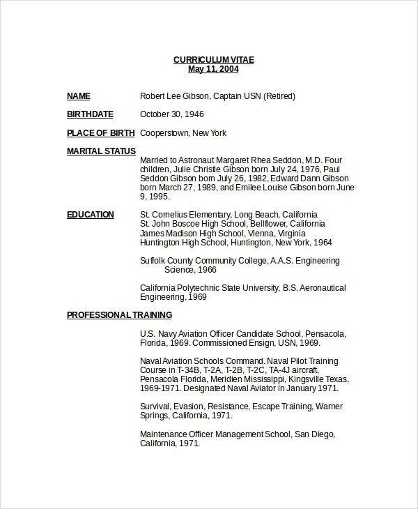 Pilot Resume Template - 5+ Free Word, PDF Document Downloads ...