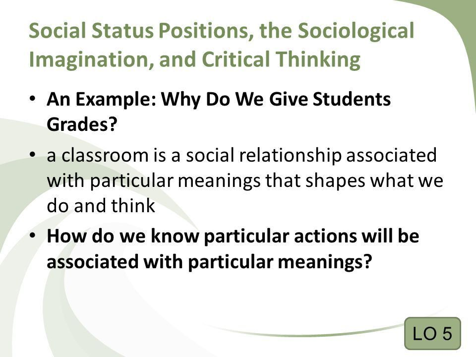 Social Status Positions, the Sociological Imagination, and ...