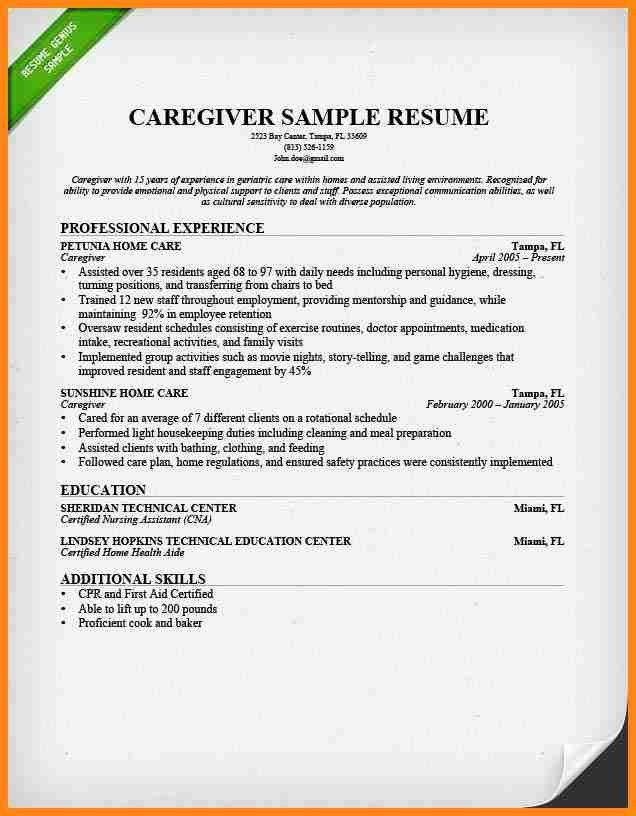 100+ [ Caregiver Resumes ] | Special Needs Caregiver Care With ...