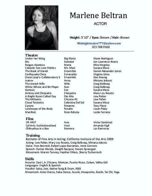 Dancer Resume, dance resume for college audition | resume template ...