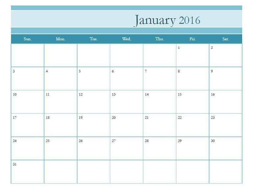 Free Printable Monthly Calendar Template » Calendar Template 2017