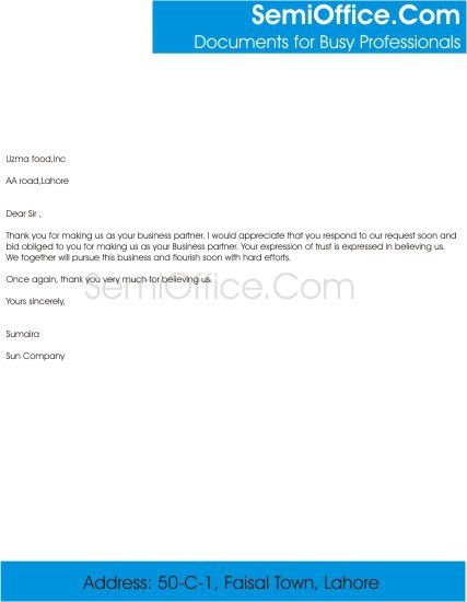 Thank You For Your Business Letter. For Information Received; 9 ...