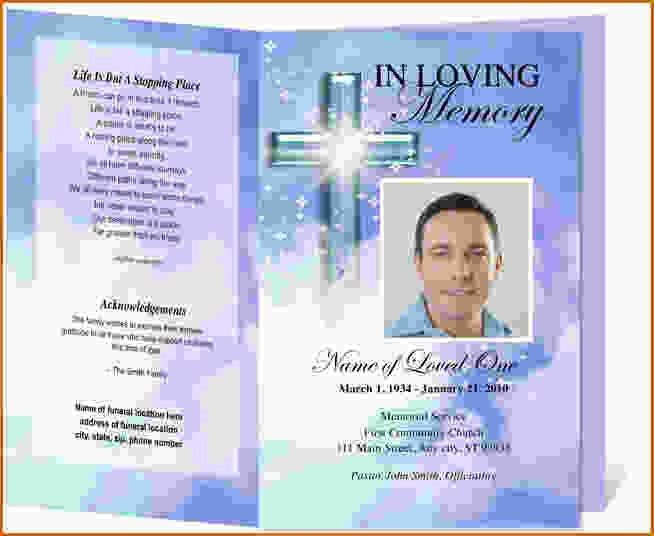 Free Printable Memorial Service Programs [Template.billybullock.us ]