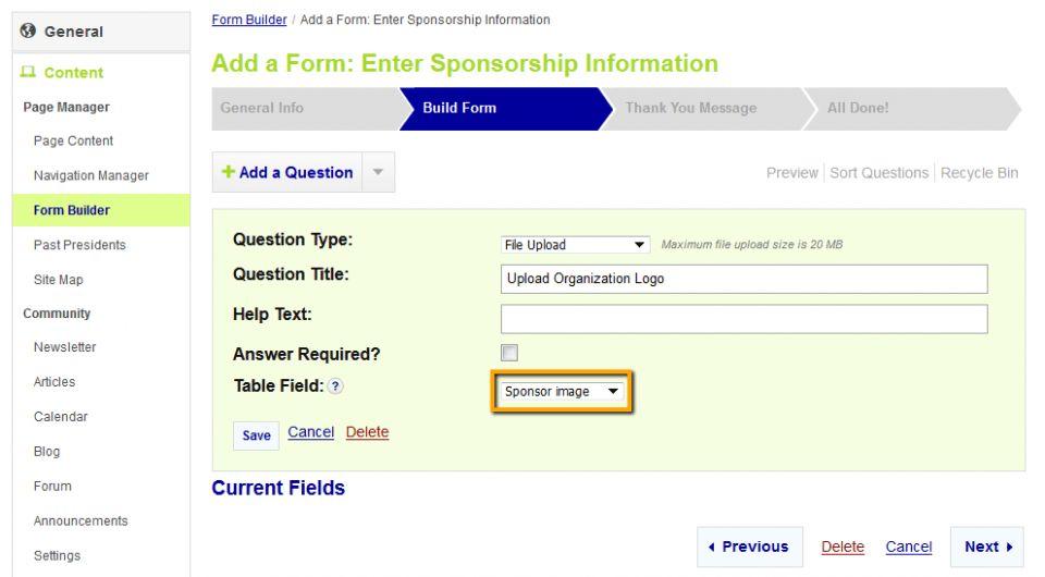 StarChapter - Knowledgebase - How To: Setup Online Sponsorship ...