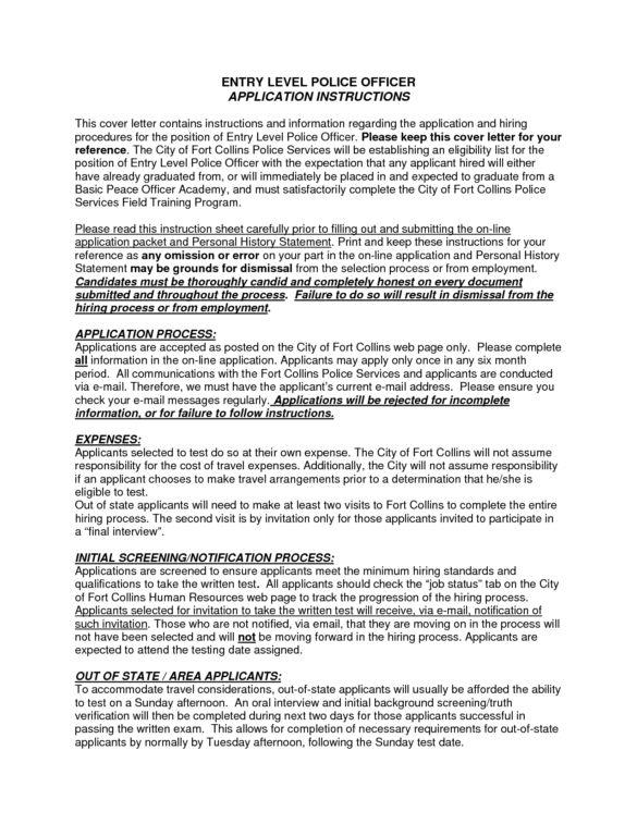 Best Selected Cover Letter Samples For Police Officer Position ...