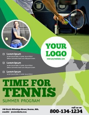 Customizable sports flyer. Tailored for tennis, this flyer can be ...