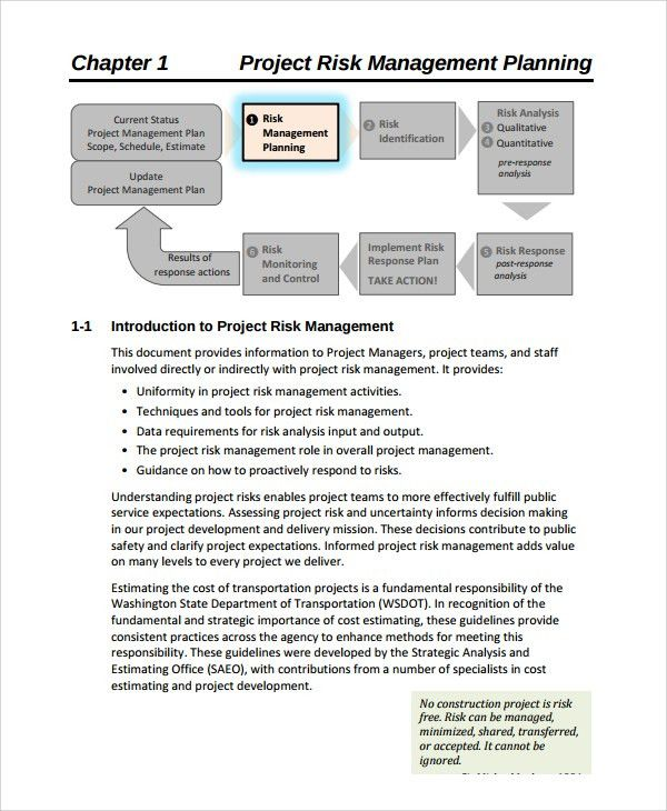 Sample Project Risk Management Templates - 7+ Free Documents ...