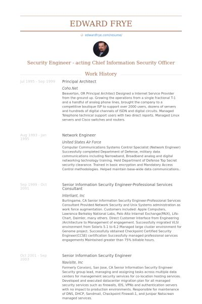 Download Information Security Engineer Sample Resume ...